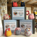 Owl Pincushion Kit (Polka Dot)