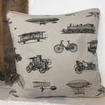 Linen Look Cushion Cover - Vintage Transport