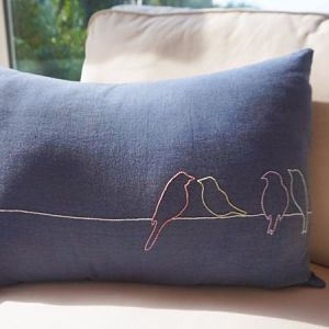 Birds on a Wire Cushion Cover