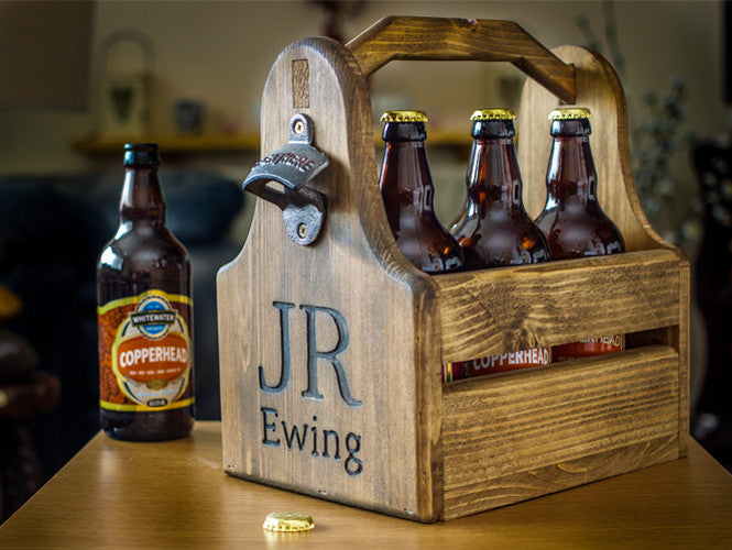 Personalised Wooden Beer Crate - Urban Forged