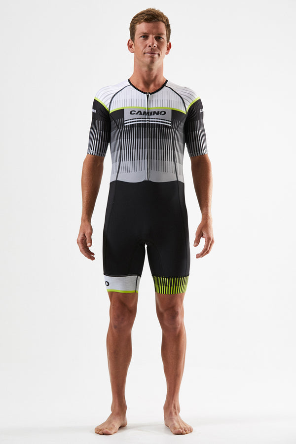 Mens Short Sleeve Suit - Force Pro - Neon