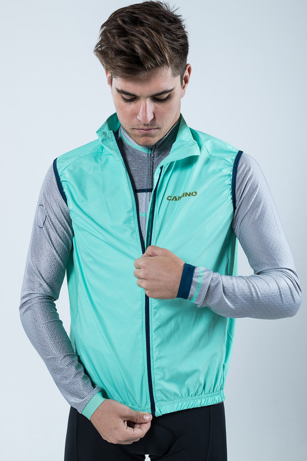 Mens Covert Wind Vest - Pool