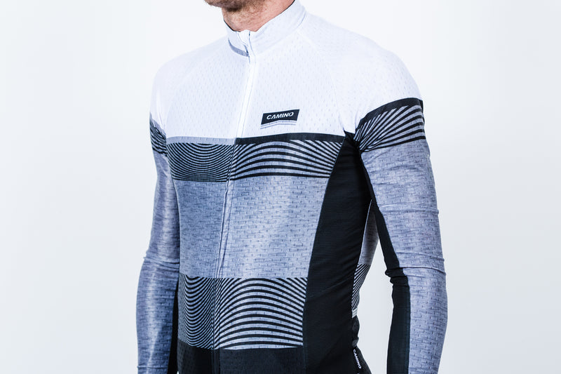 Mens Frequency Reflect LS Jersey - White