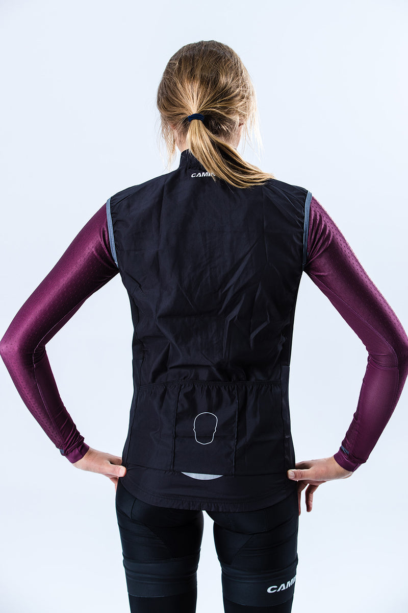 Womens Covert Wind Vest - Black