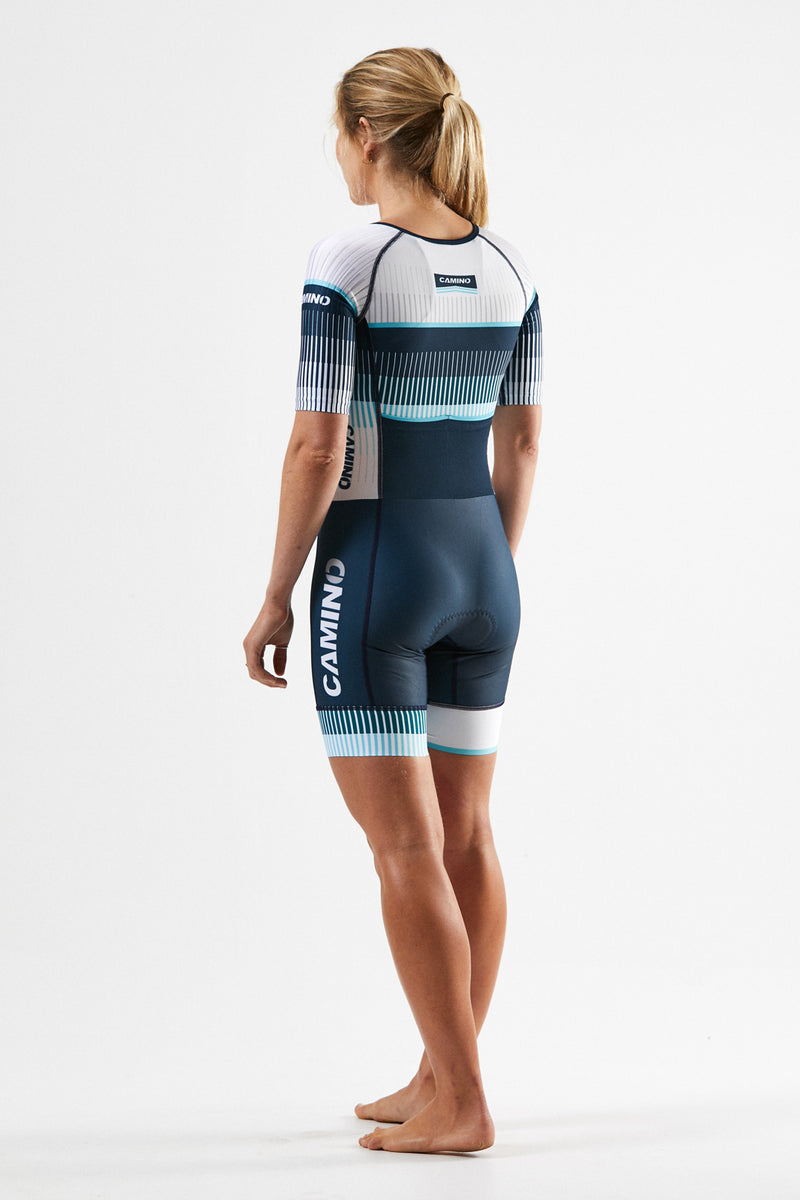 Womens Short Sleeve Suit - Force Pro - Turquoise