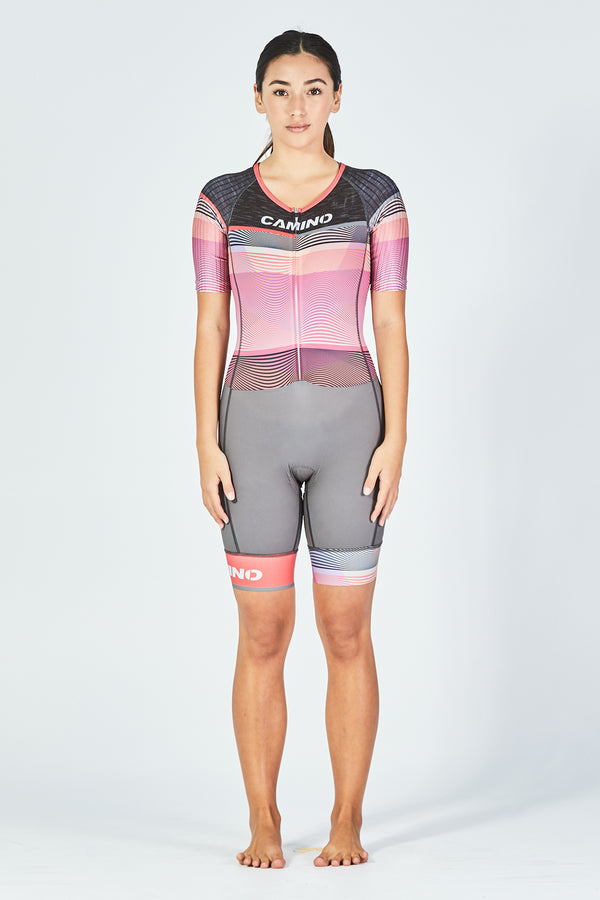 Womens Sleeve Suit - Frequency Pro - Coral