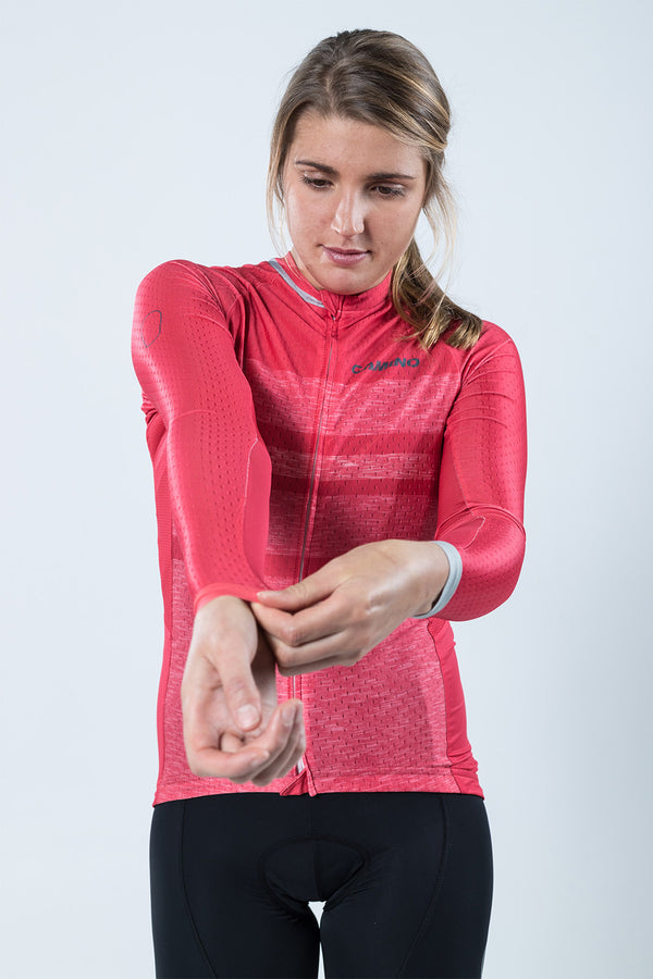Womens Chase LS Jersey - Berry