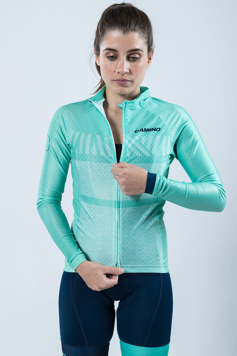 Womens Chase LS Jersey - Pool