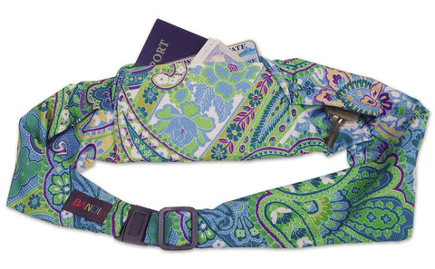 BANDI Belt Blue Green Paisley Large