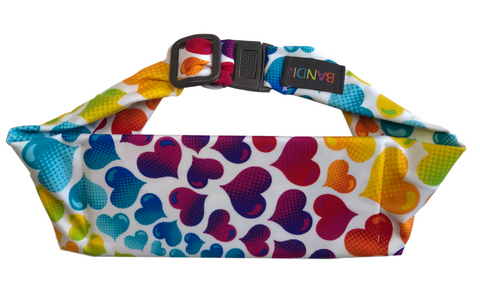 BANDI Kids Belt Rainbow Hearts