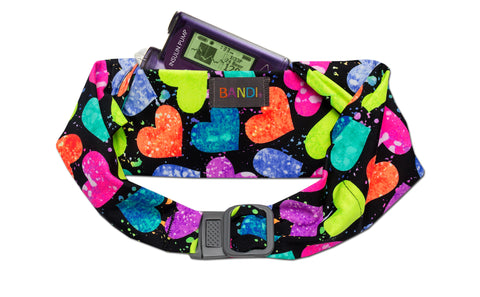 BANDI Kids Belt Neon Hearts