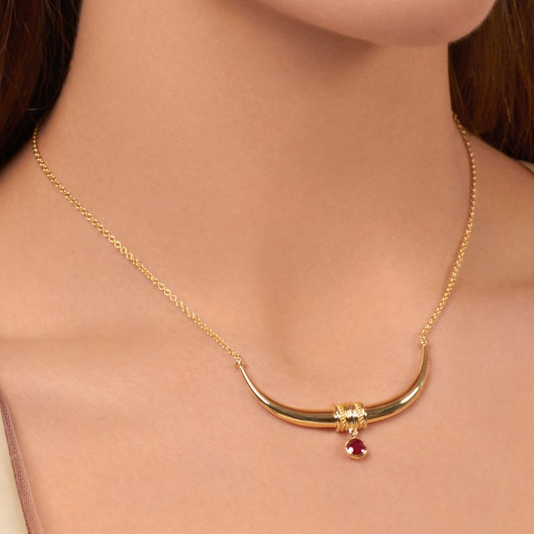 Toka-Leya Necklace - Ruby