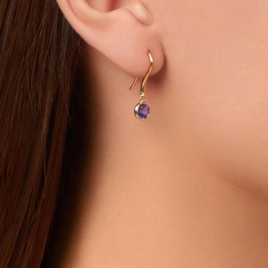 Twa Earrings - Tanzanite