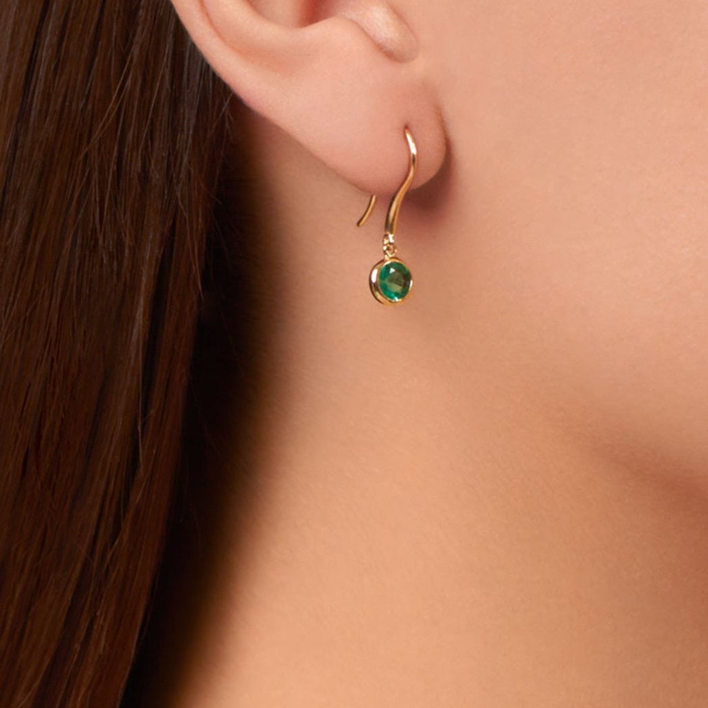 Twa Earrings - Emerald