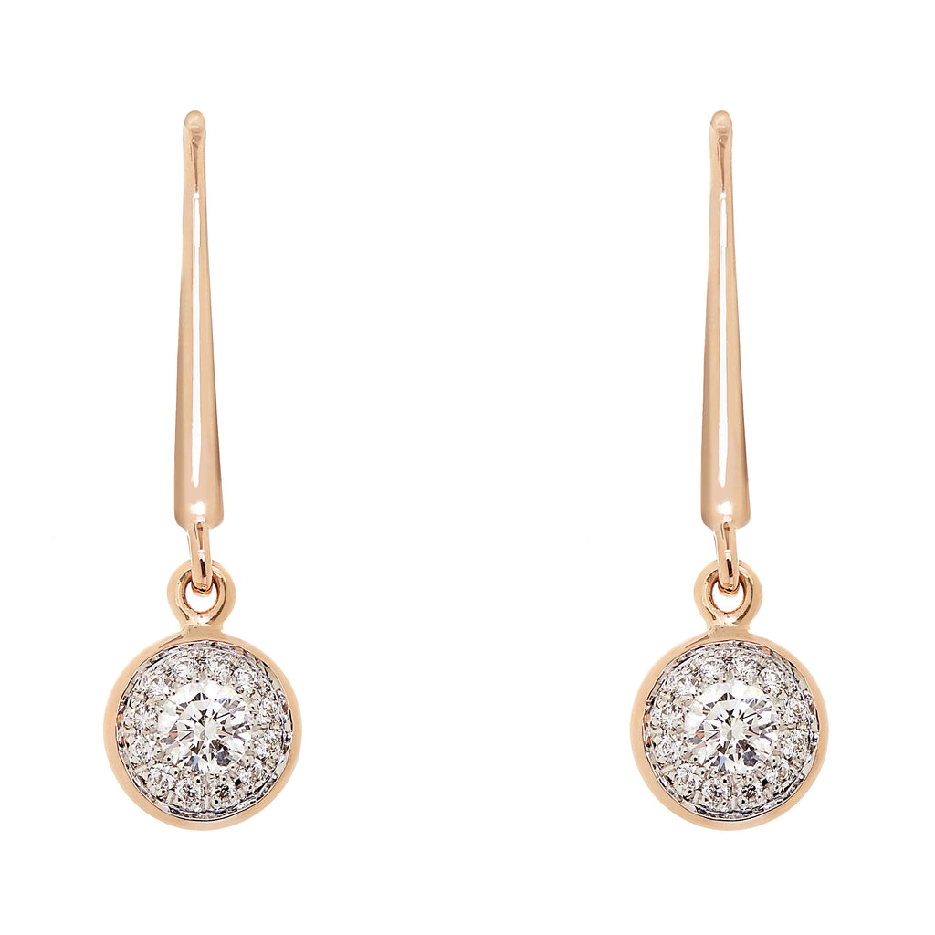 Twa Hook Earrings - Diamond