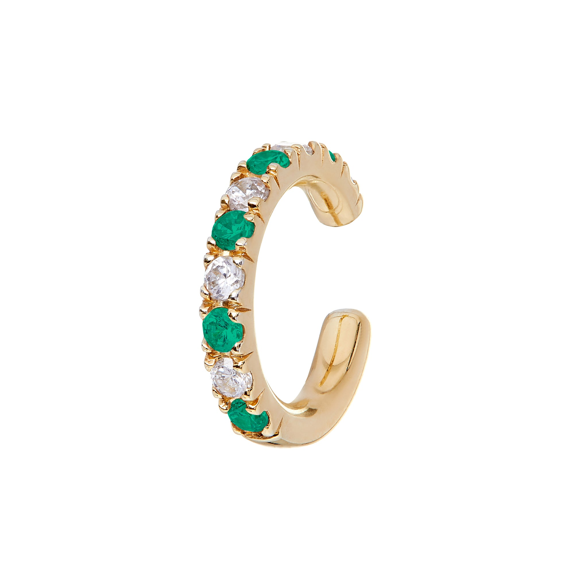 AYA Emerald and Diamond Cuffs