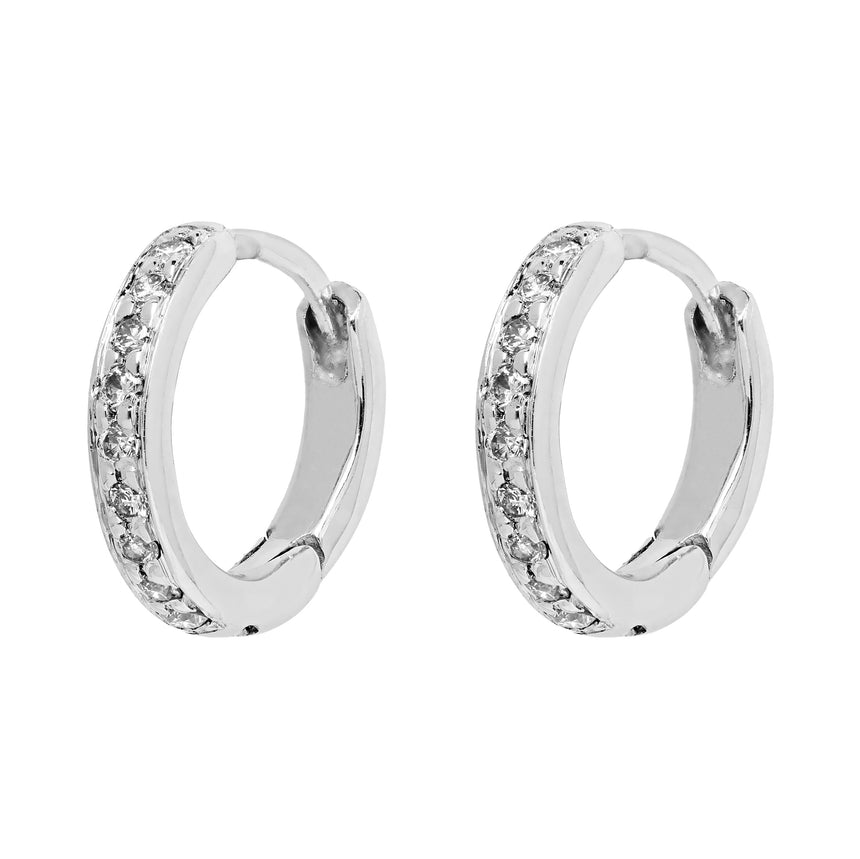 Twa Diamond Hoops - White Gold