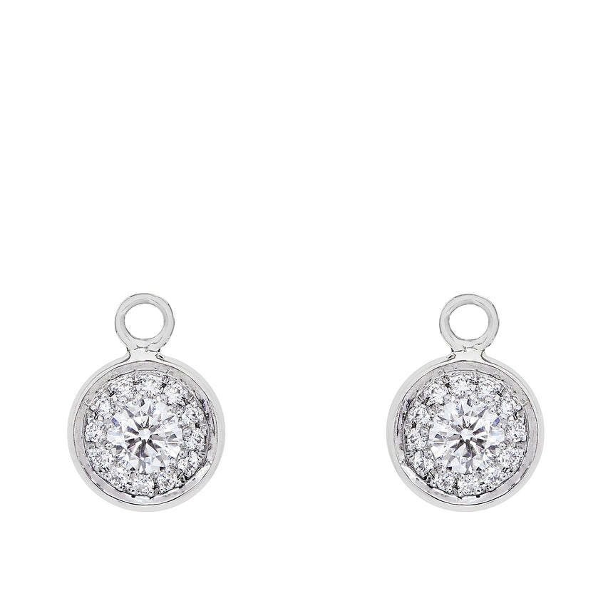 Twa Detachable Droplets - White Gold & Diamond
