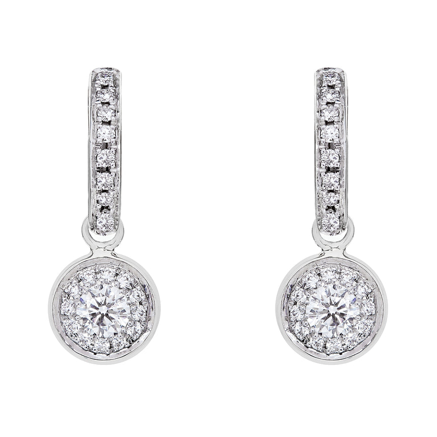 Twa Earrings - White Gold & Diamond