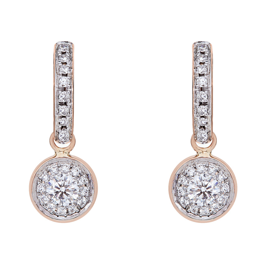 Twa Earrings - Rose Gold & Diamond
