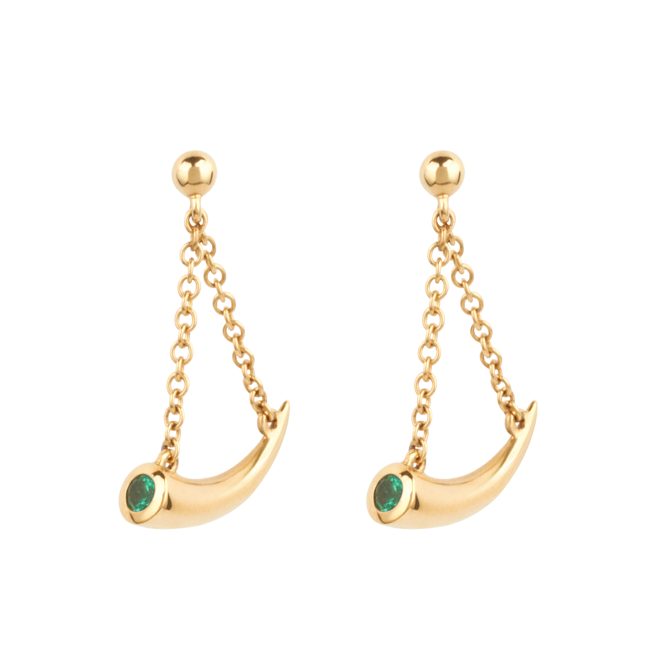 Mosi-oa-tunya Earrings - Emerald