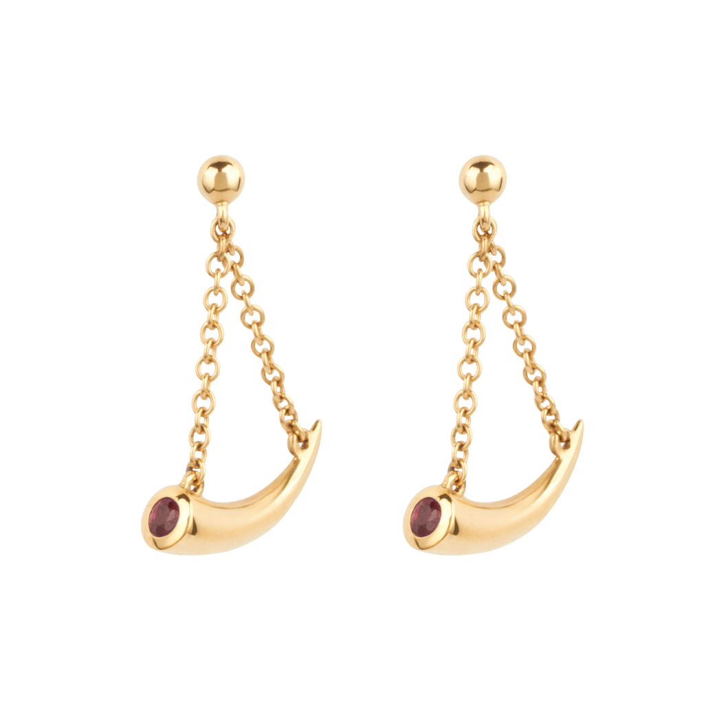 Mosi-oa-tunya Earrings - Ruby