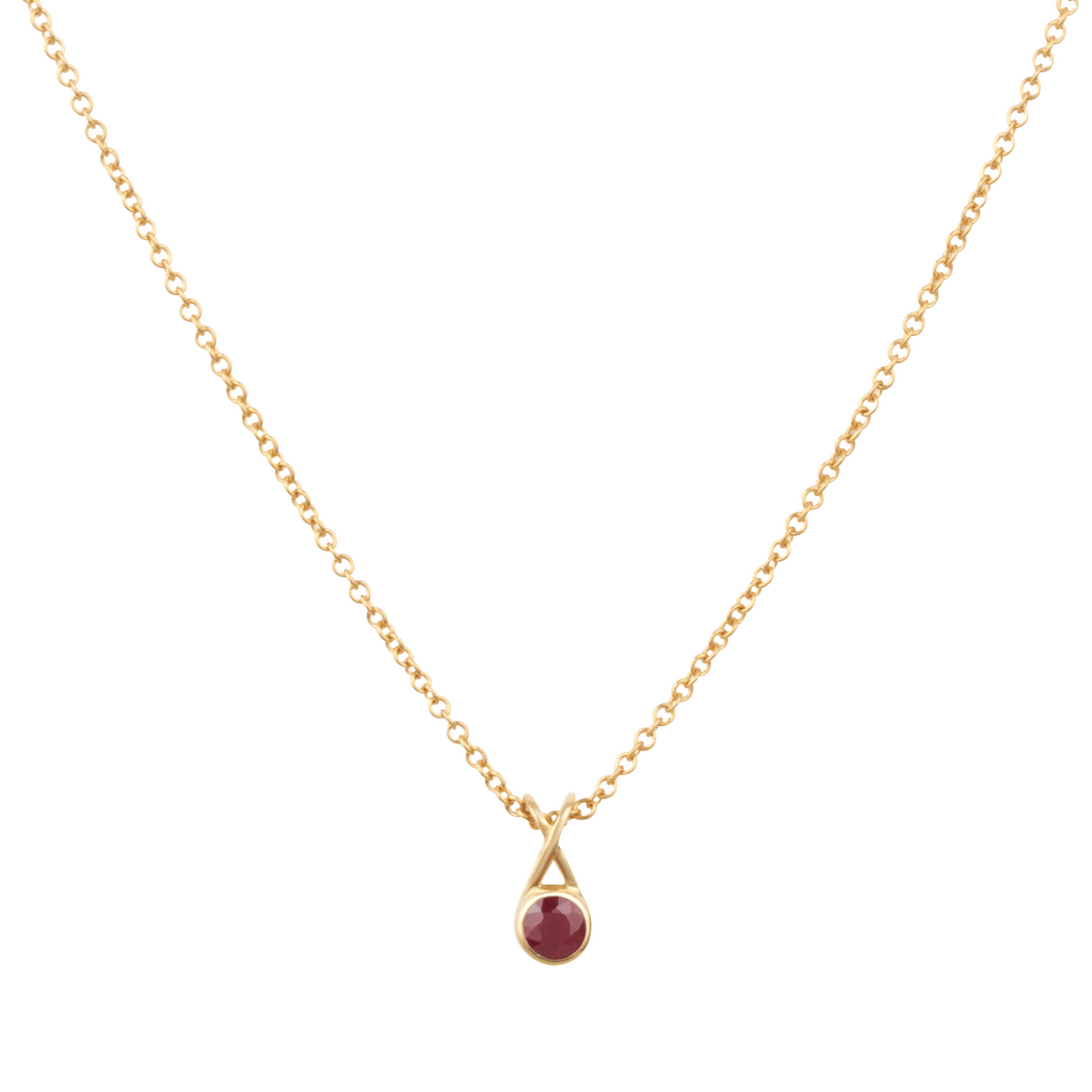 Mondoro Necklace - Ruby