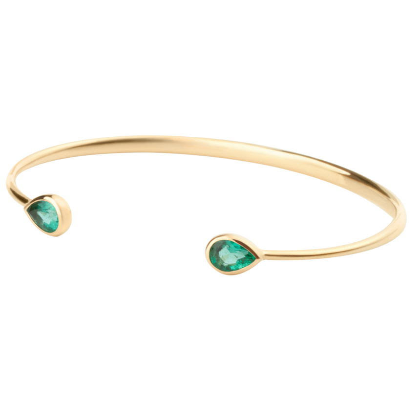 Chirundu Bangle - Emerald