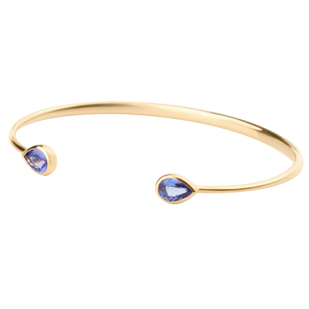Chirundu Bangle - Tanzanite