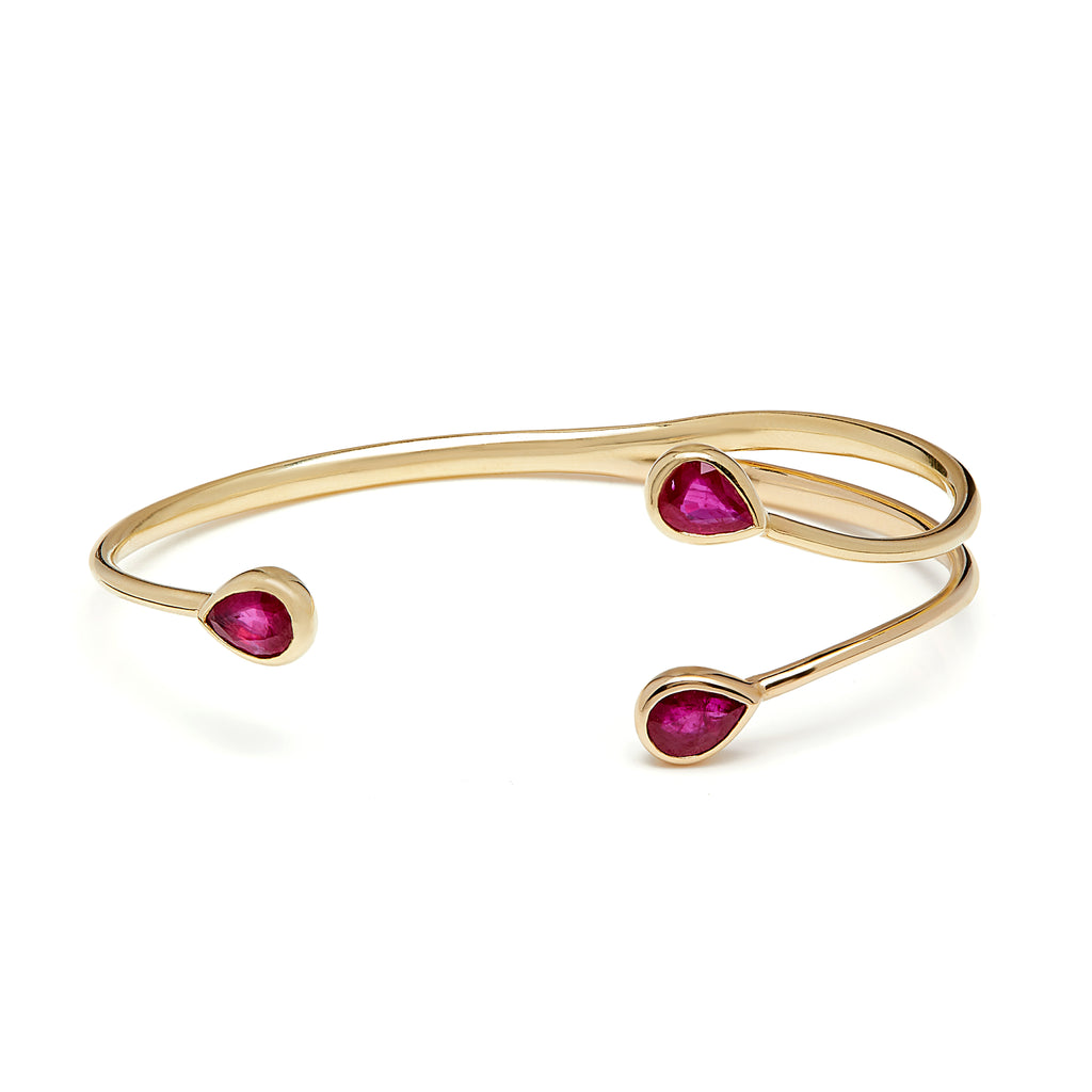 Chirundu Branch Bangle - Ruby