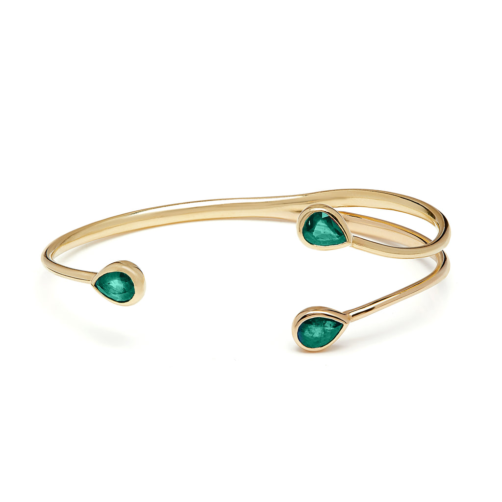 Chirundu Branch Bangle - Emerald