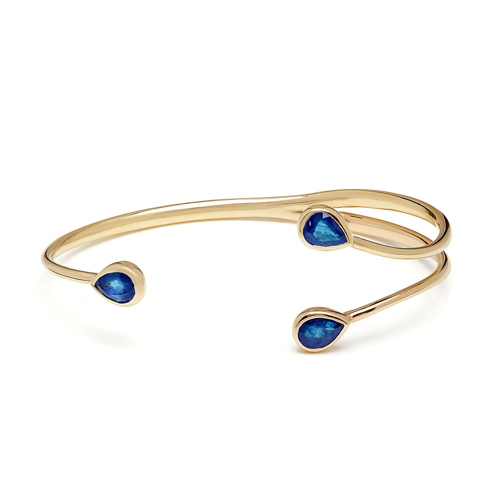 Chirundu Branch Bangle - Tanzanite