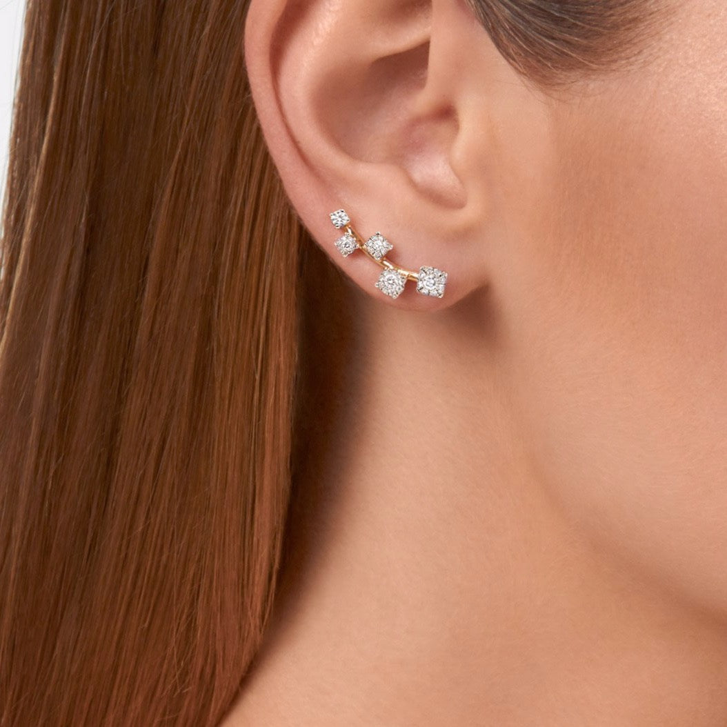 Sanyati Earrings - Diamond in White Gold
