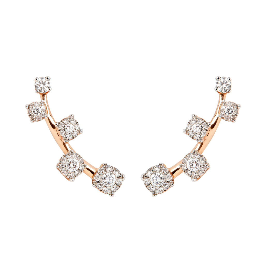 Sanyati Earrings - Rose Gold & Diamond