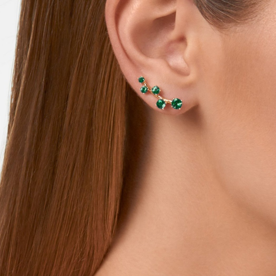 Sanyati Earrings - Emerald