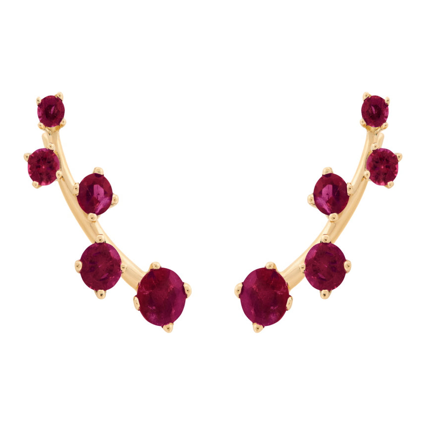 Sanyati Earrings - Ruby