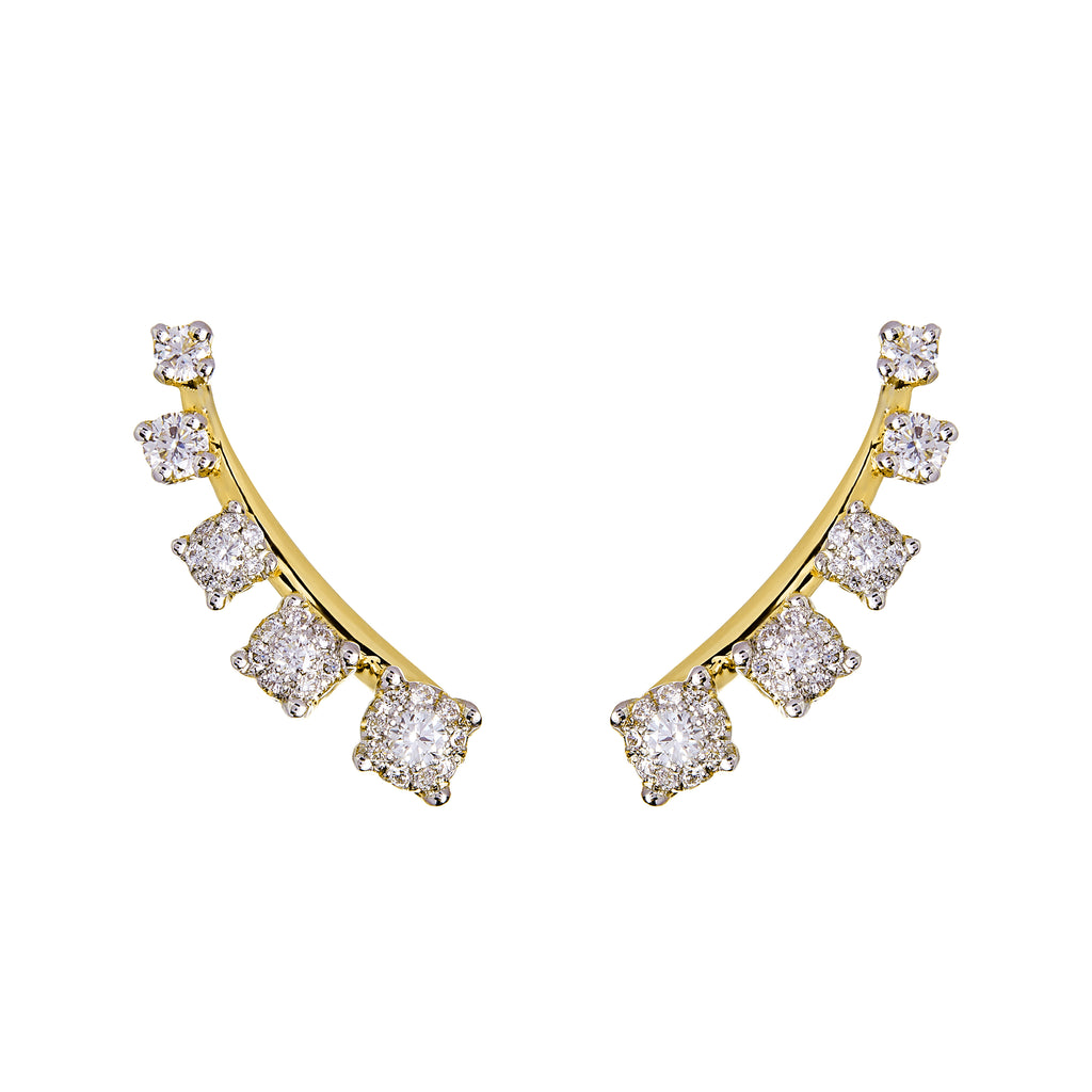 Mtondo Earrings - Diamond - Yellow Gold