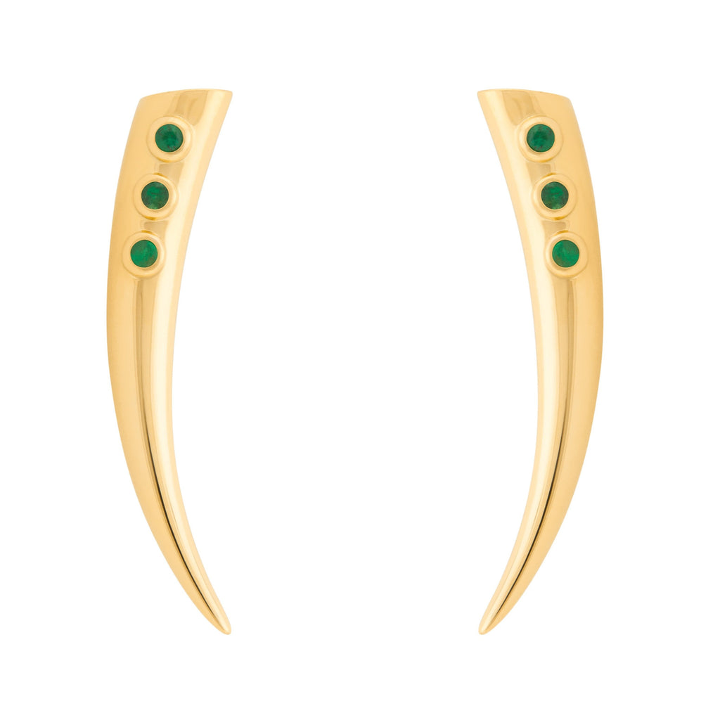 Kayila Earrings - Emerald