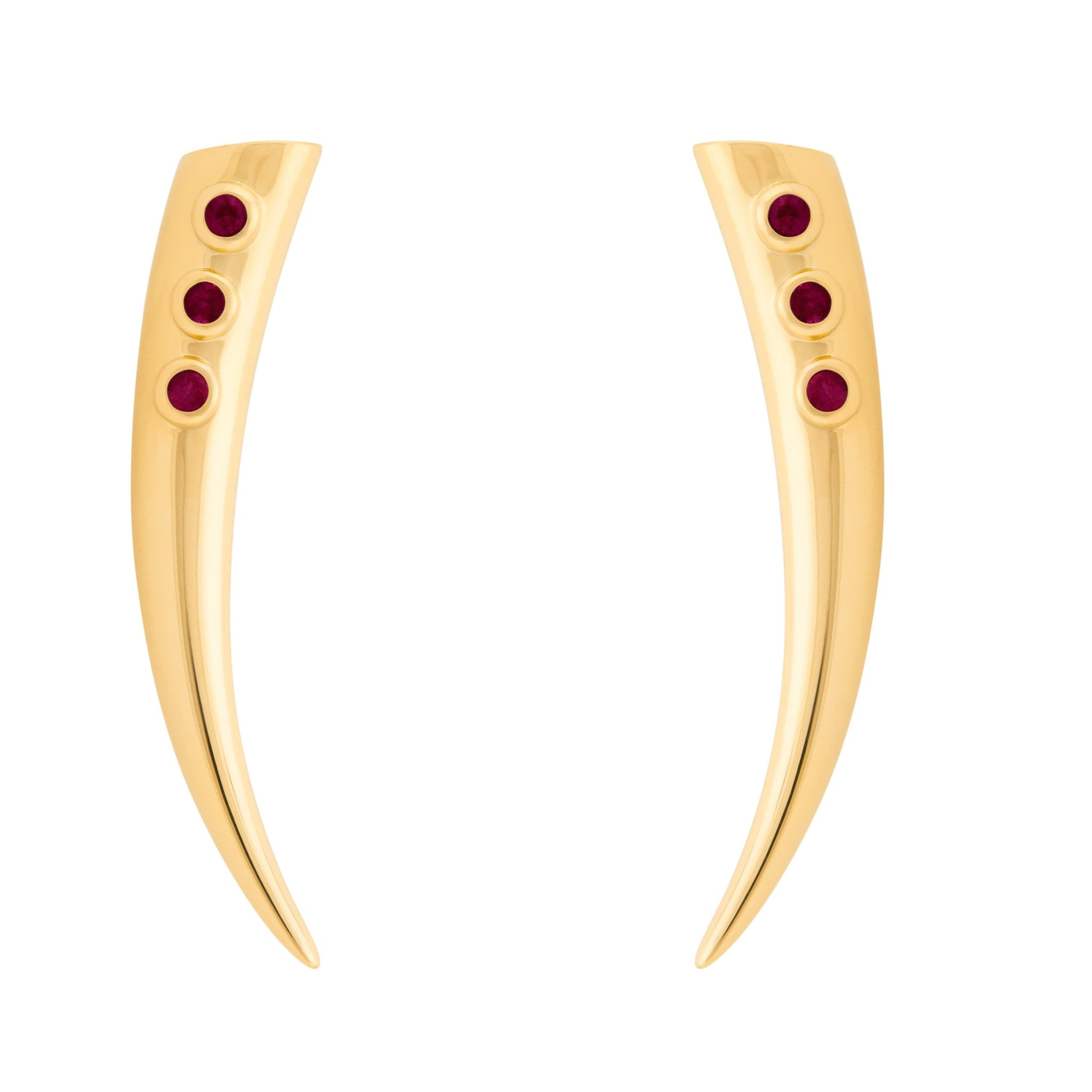 Kayila Earrings - Ruby