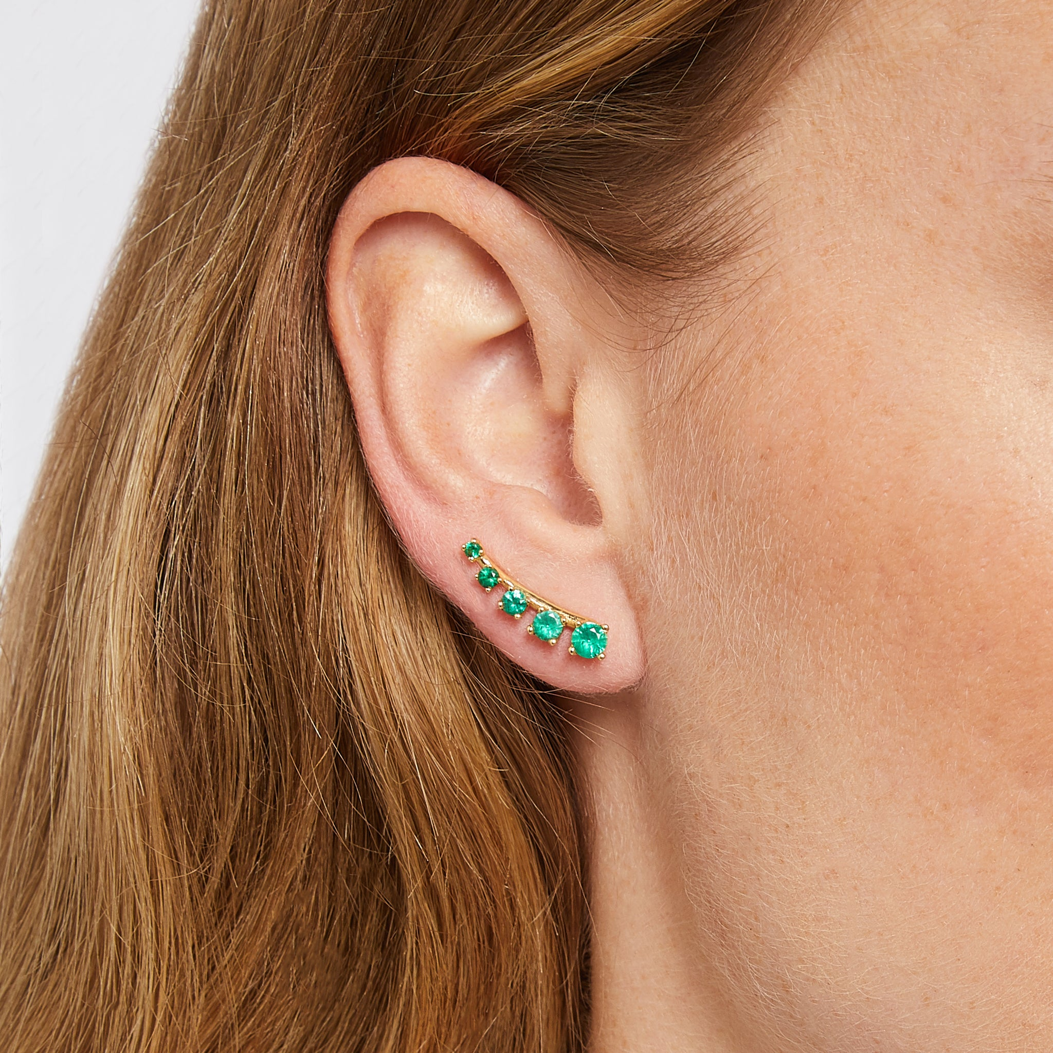 Mtondo Earrings - Emerald