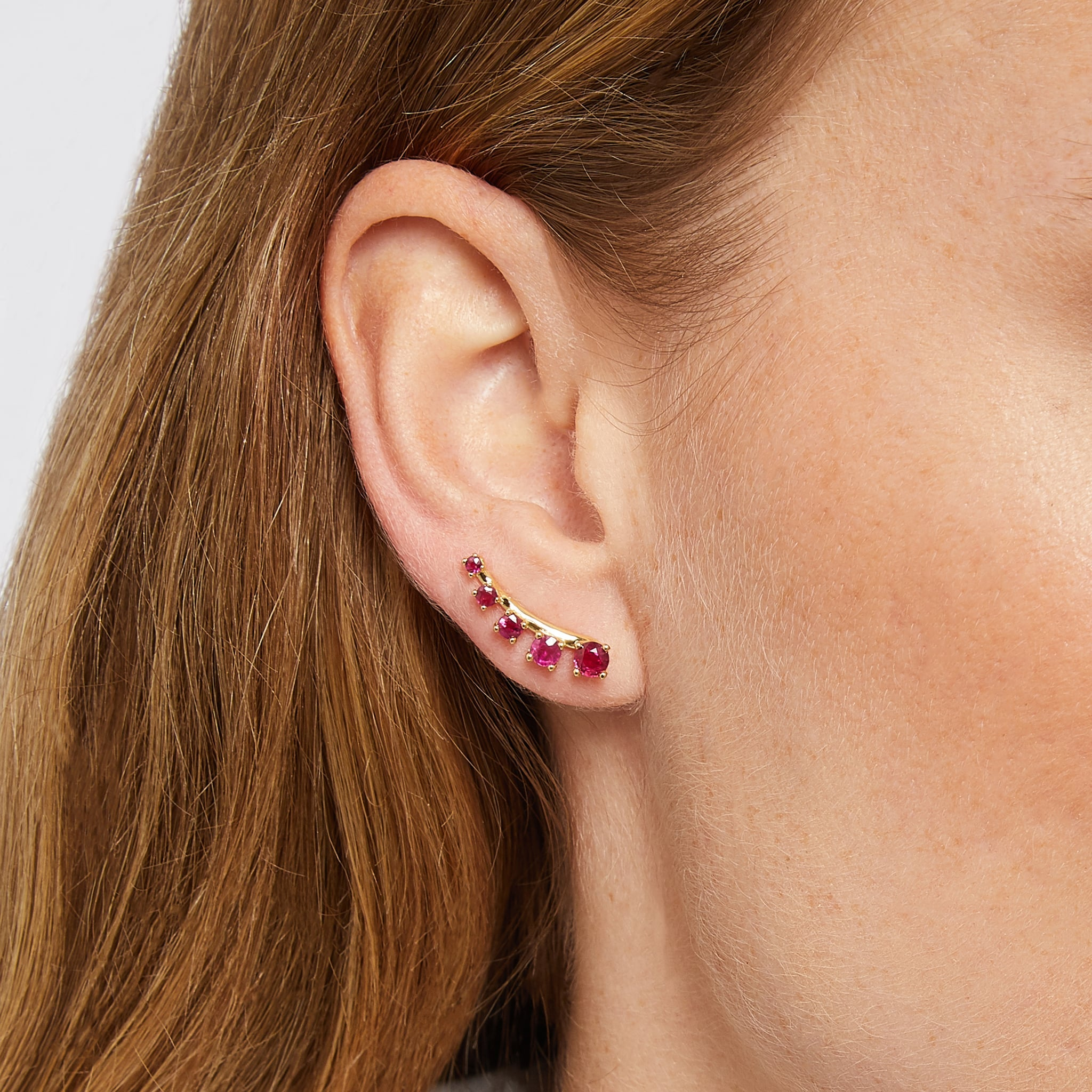 Mtondo Earrings - Ruby