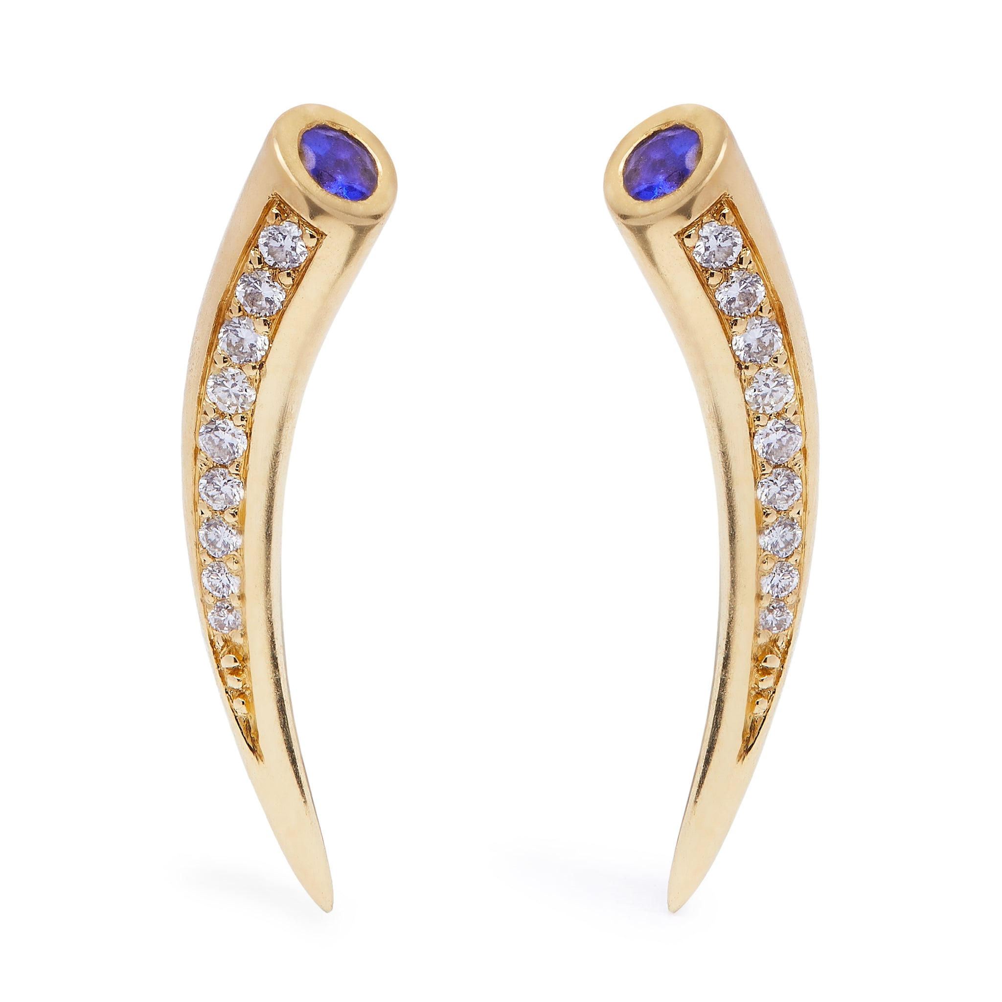 Chiawa Earrings - Tanzanite and Diamond