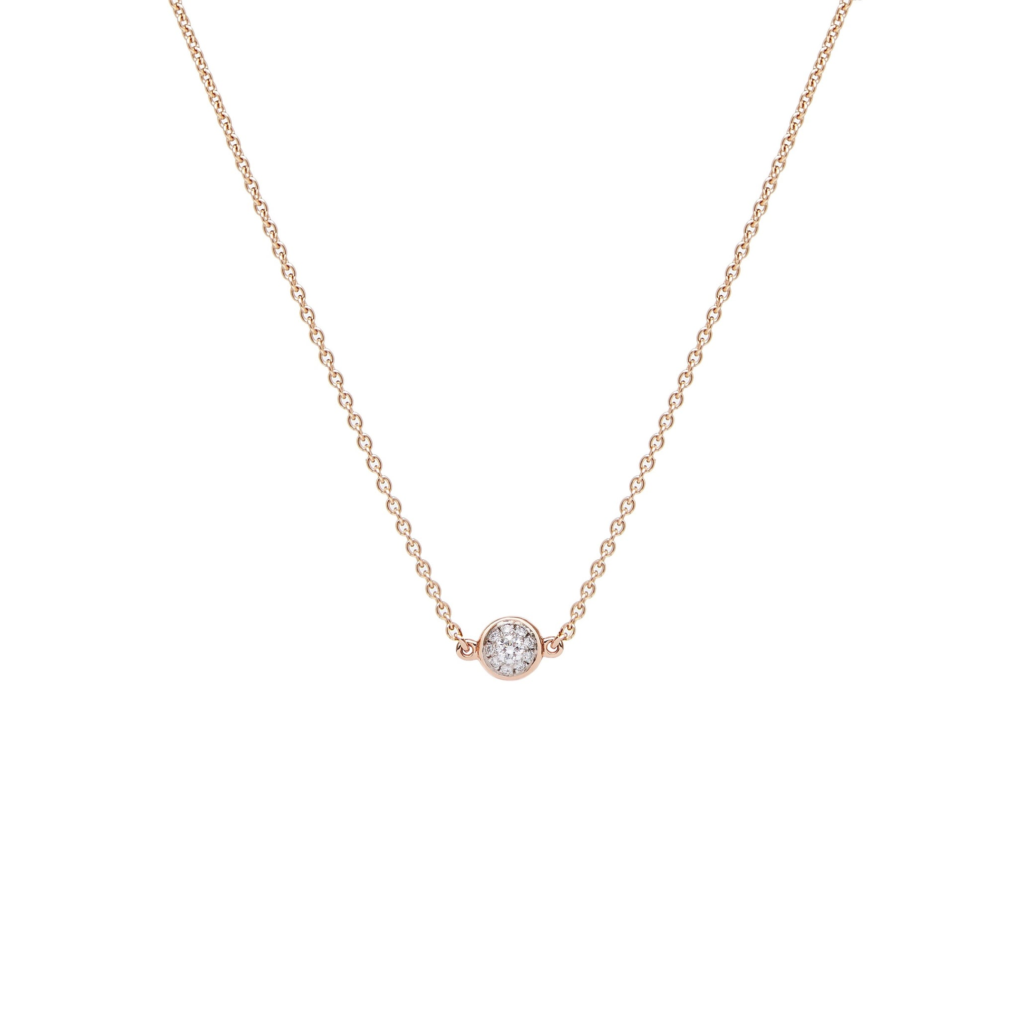 Mana Necklace - Rose Gold and Diamond