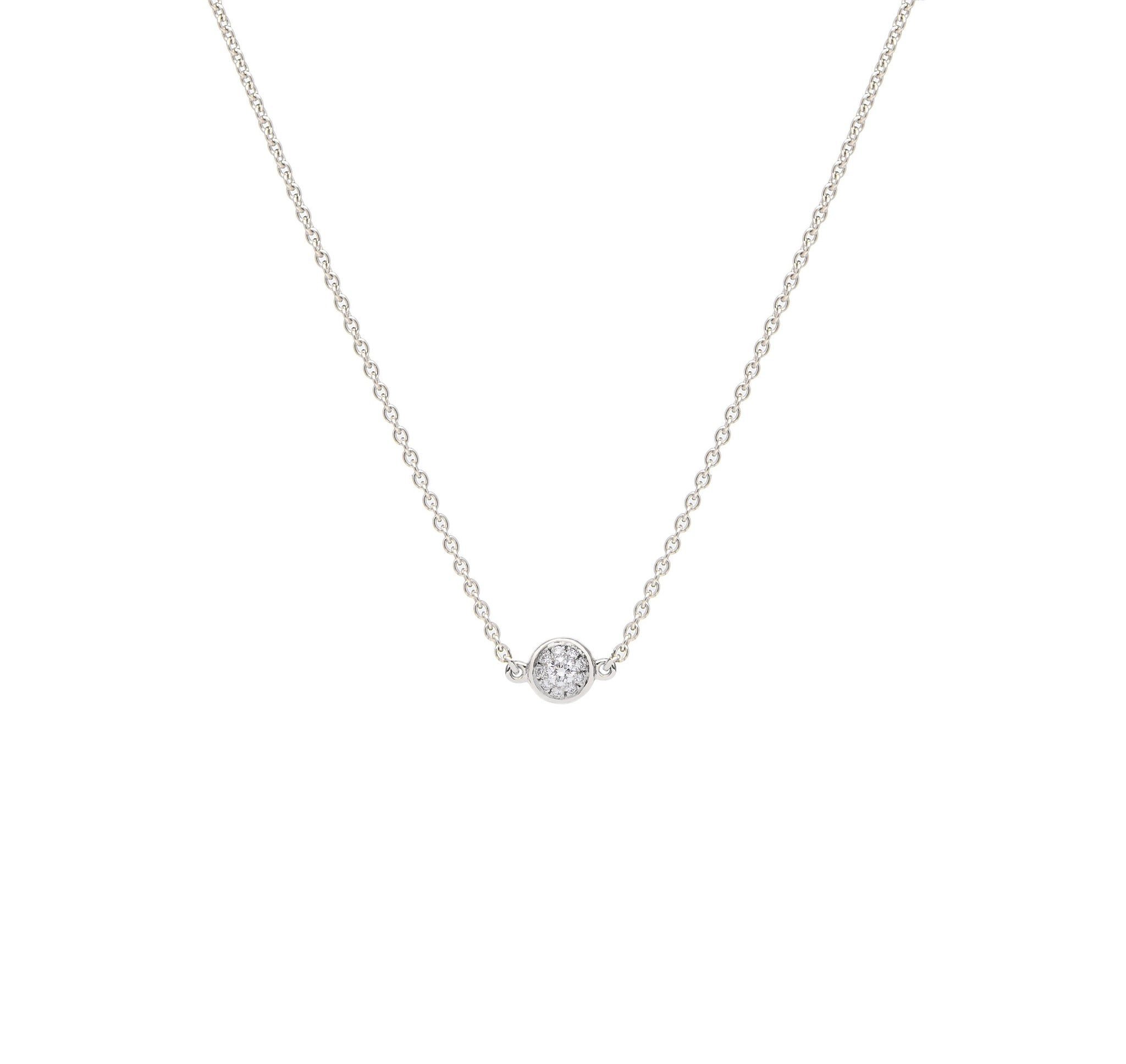 Mana Necklace - White Gold and Diamond