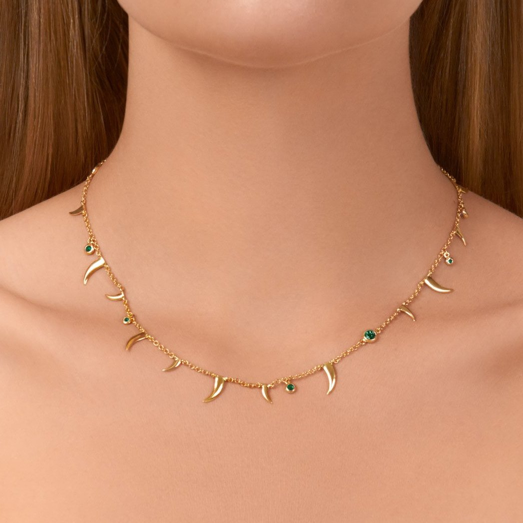 Nyami Nyami Necklace - Emerald