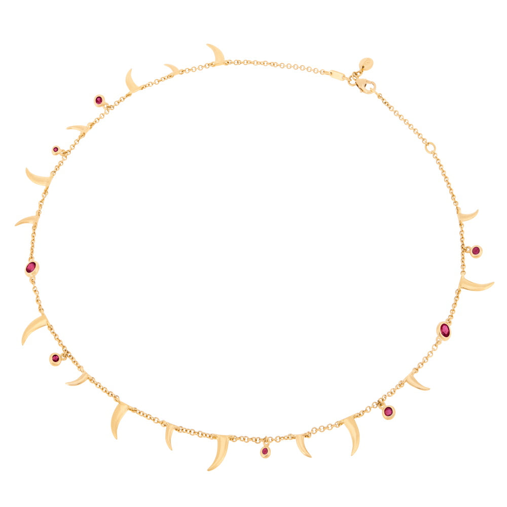 Nyami Nyami Necklace - Ruby