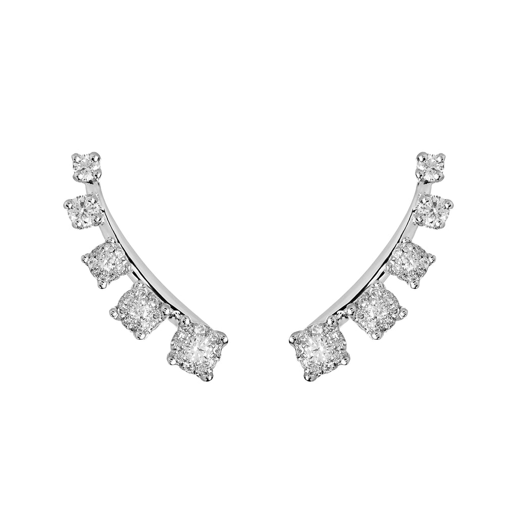 Mtondo Earrings - Diamond - White Gold