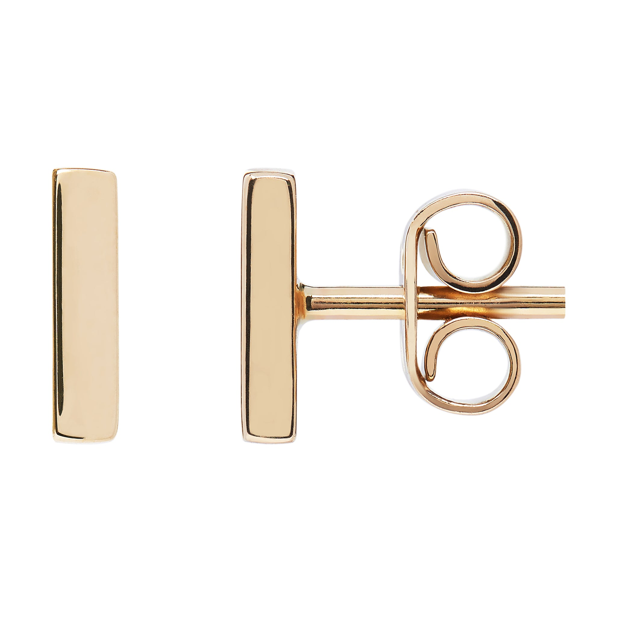 AYA Bar Studs - Yellow Gold