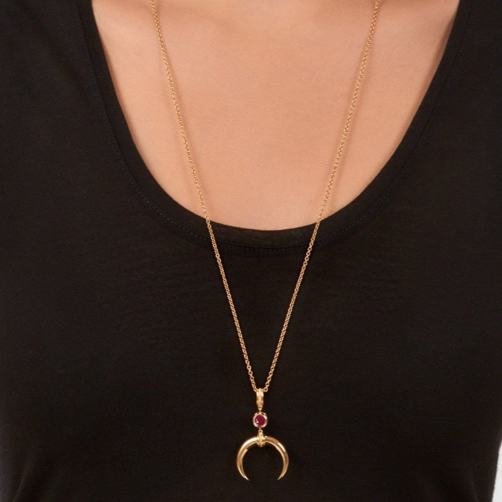 Cahora Bassa Necklace - Ruby