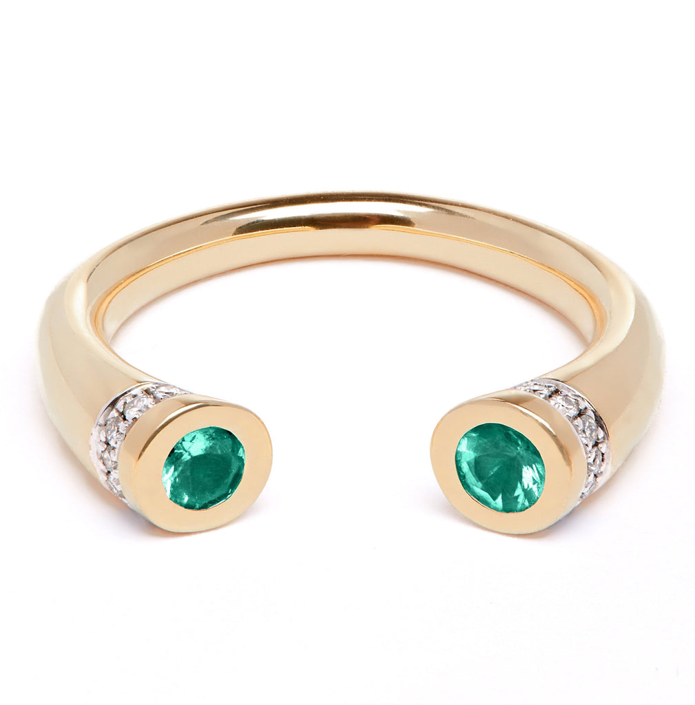 Chete Ring - Emerald and Diamond
